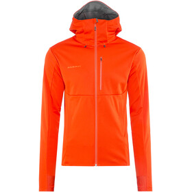 Mammut Ultimate V SO Hooded Jacket Men dark orange-titanium melange